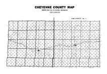County Map - Fire Districts, Cheyenne County 1967